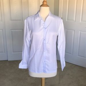 White Button-Down Collared Ling Sleeve Shirt
